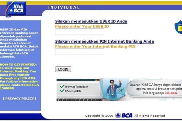 Pembayaran via KlikBCA 1