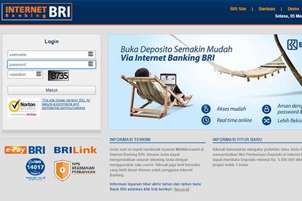 Pembayaran via iBanking BRI