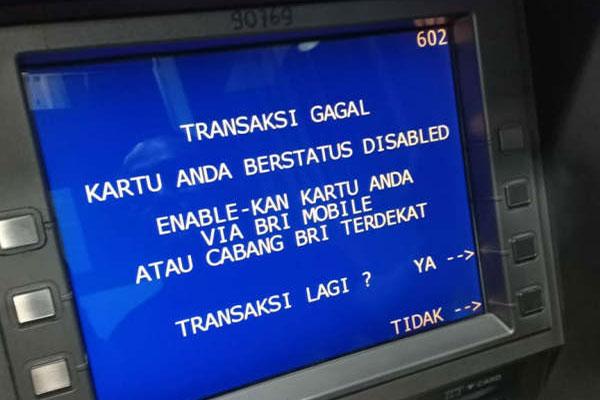Cara Enable Kartu ATM BRI Yang Disable Paling Mudah