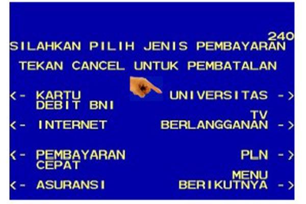 pilih menu Universitas.
