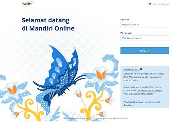 Lewat Mandiri Online