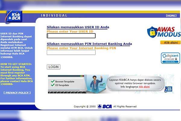 Login Klik BCA