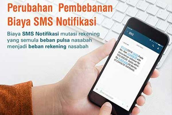 Biaya Transaksi Kirim Uang Melalui SMS Banking BNI