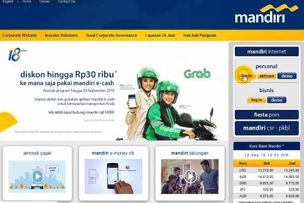 Buka Situs Bank Mandiri
