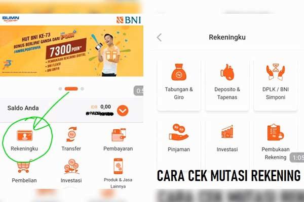 Cara Cek Mutasi BNI Lewat ATM mBanking iBanking SMS Banking