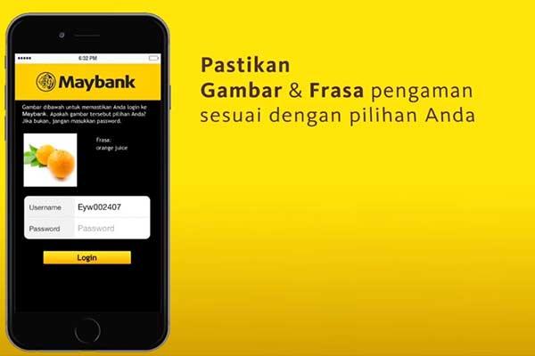 Login ke Aplikasi Maybank2u