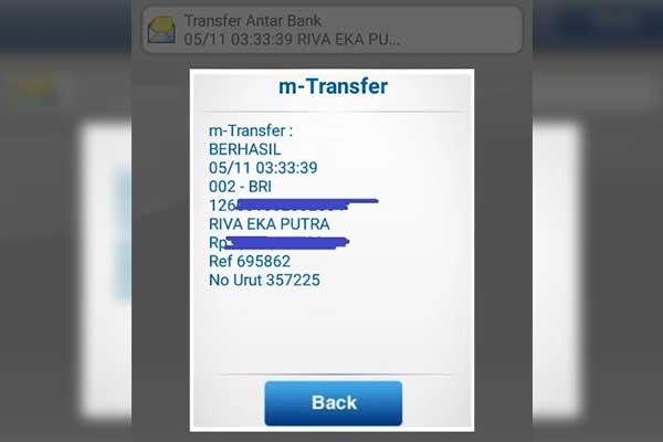 Muncul Informasi Bukti Transfer