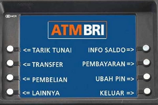 Transfer Lewat ATM BRI