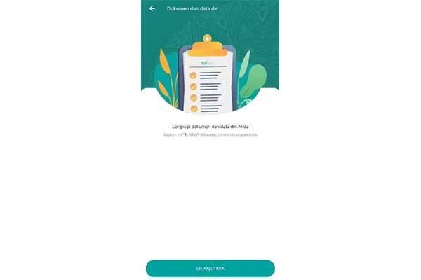 Upload Dokumen dan Data Diri