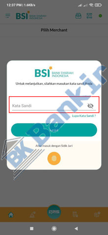 10. Masukkan Kata Sandi BSI Mobile