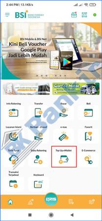 2. Pilih Menu Top Up E Wallet