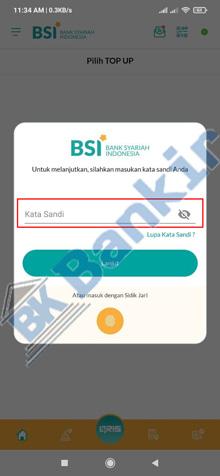 3. Masukkan Kata Sandi BSI Mobile 1