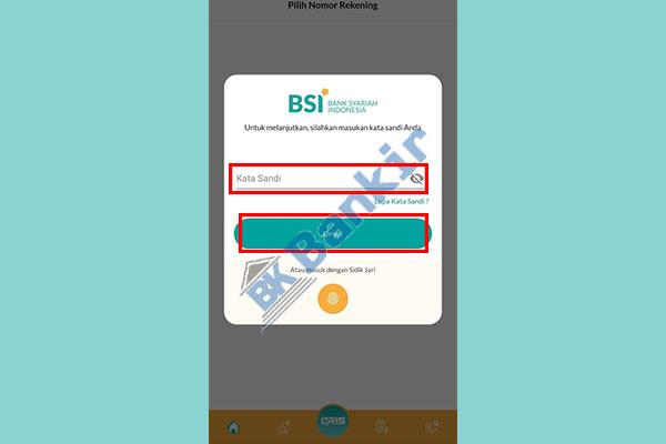 4. Masukkan Kata Sandi BSI Mobile 1