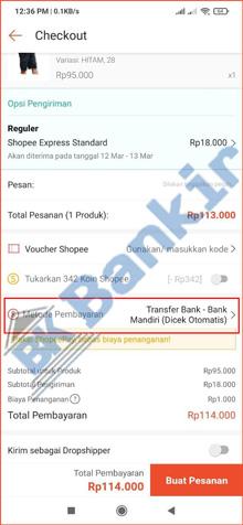 4. Pilih Metode Pembayaran 1