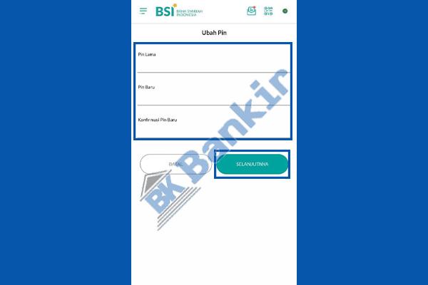 5. Ganti PIN BSI Mobile