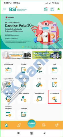 8. Pilih Menu E Commerce