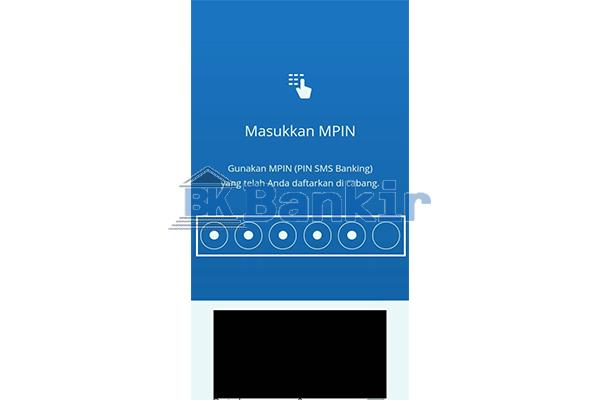 Masukkan MPIN Mandiri Online