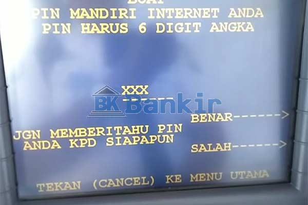 Buat PIN Internet Banking Mandiri