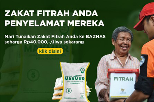 Cara Bayar Zakat Fitrah Online Lewat Baznas