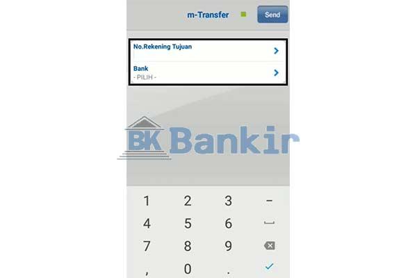 Input No. Rek Bank Tujuan