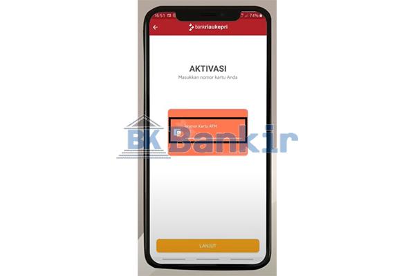 Input Nomor Kartu ATM