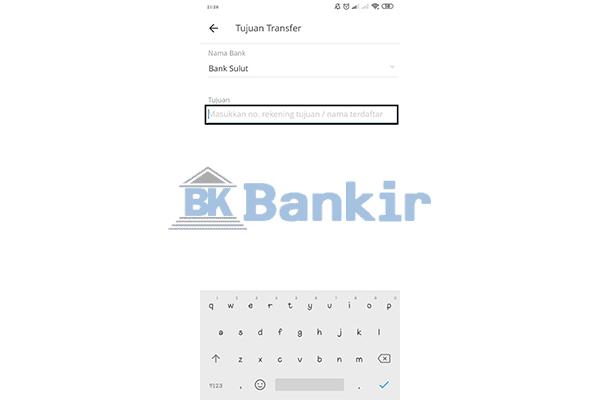 Input Nomor Rekening Bank Sulutgo