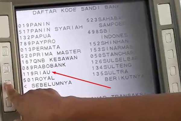 Kode Bank Riau Kepri Syariah