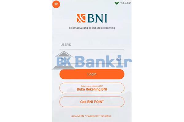 Login Mobile Banking BNI