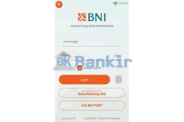 Login m Banking BNI