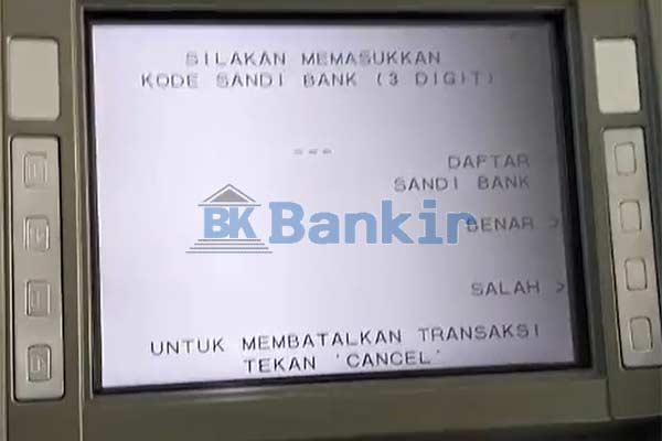Masukkan Kode Bank
