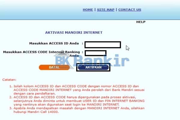 Masukkan Nomor ATM Kode Akses