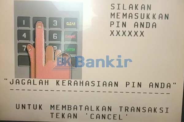 Masukkan PIN ATM 3