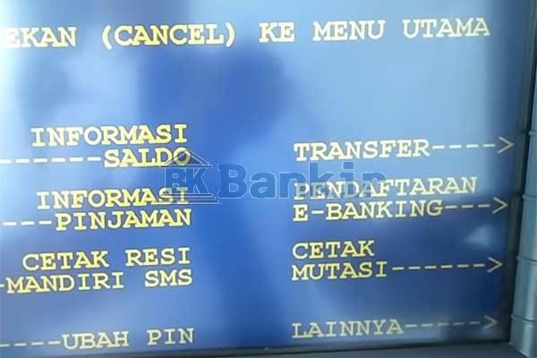 Pilih Pendaftaran e Banking