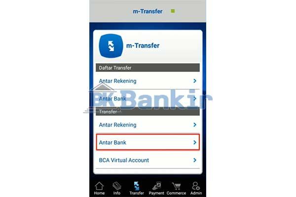 Pilih Transfer Antar Bank