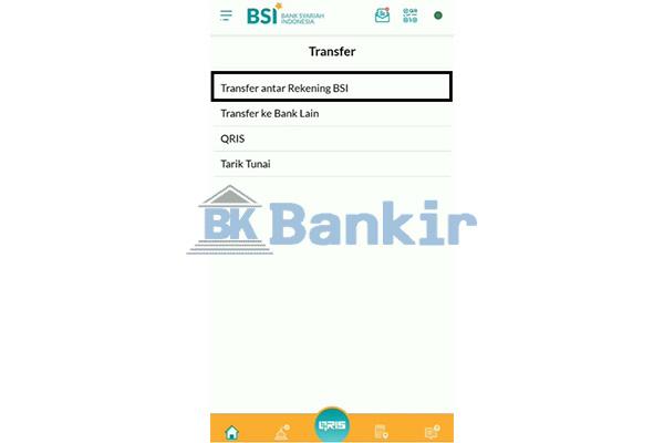 Pilih Transfer Antar Rekening BSI