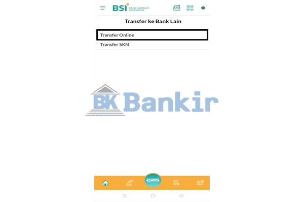 Pilih Transfer Online