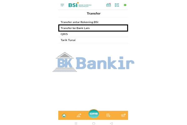 Pilih Transfer ke Bank Lain