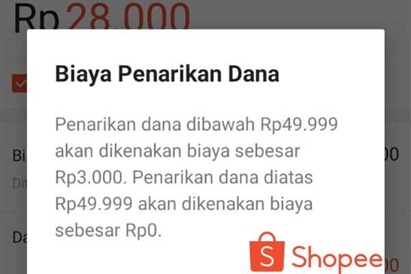Biaya Menggunakan Shopeepay
