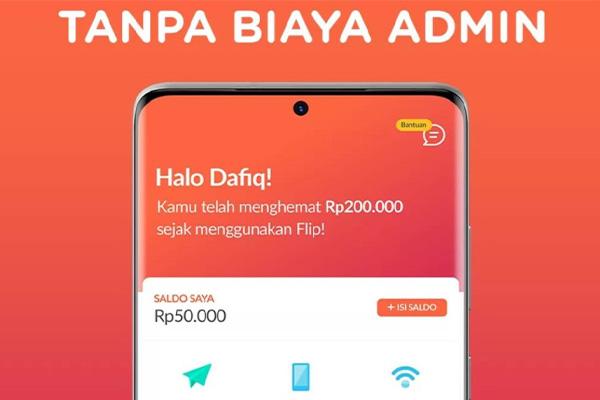 Biaya Transaksi Isi Saldo Flip Banking Lewat Mandiri Online