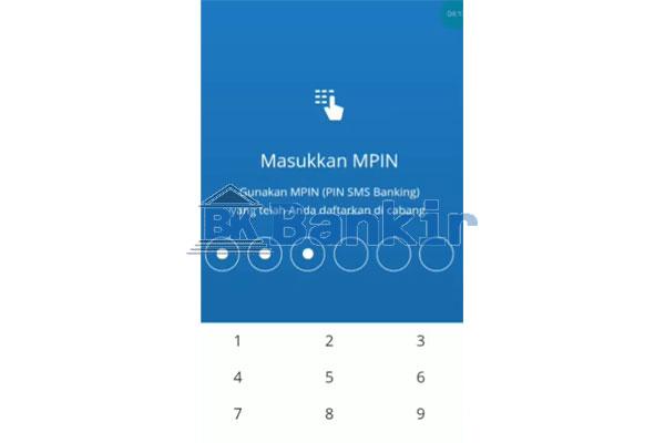 Input MPIN Livin Mandiri
