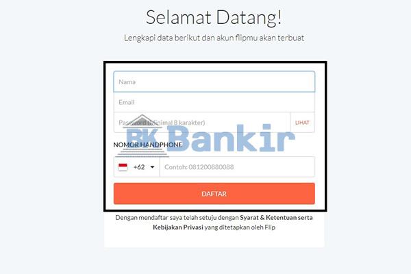 Buat Password Flip Banking