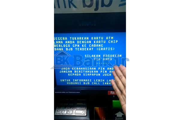Masukkan PIN ATM BJB