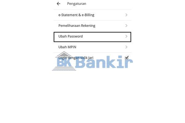 Pilih Ubah Password