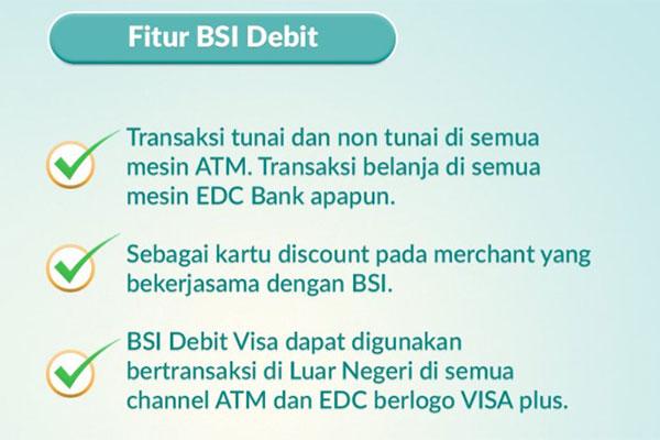 Fitur Kartu Debit Bank Syariah Indonesia