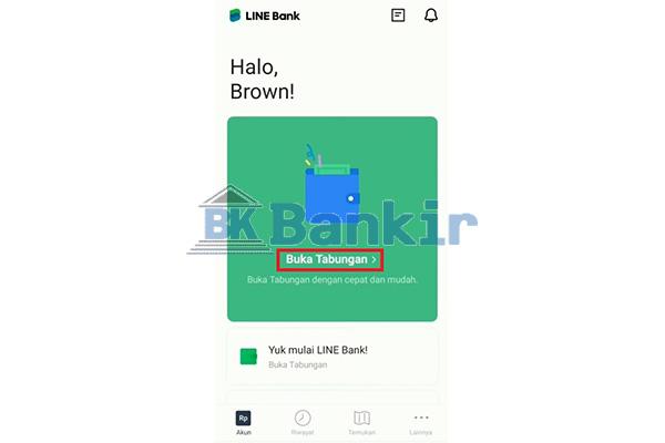 Jalankan Aplikasi Line Bank