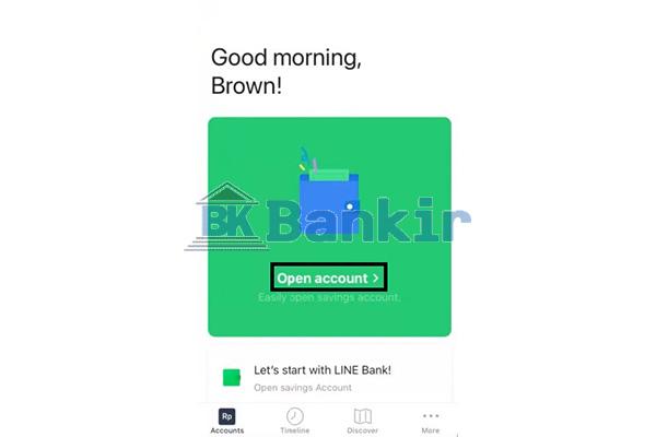 Klik Open Account