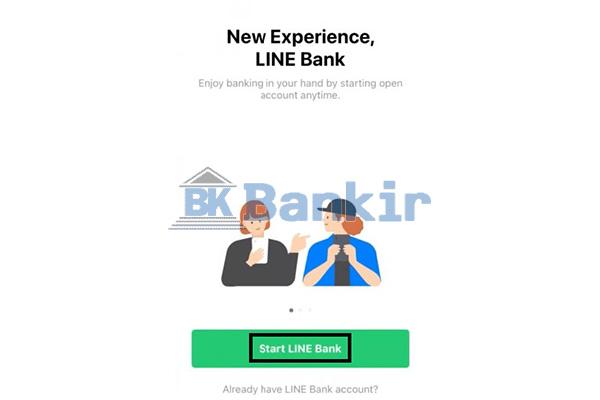 Pilih Start Line Bank