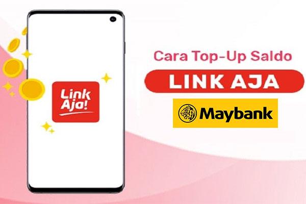 Cara Top Up LinkAja via MayBank