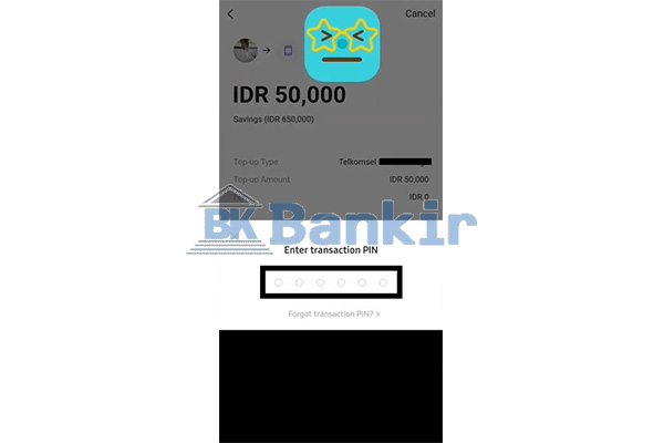 Input PIN Transaksi 1