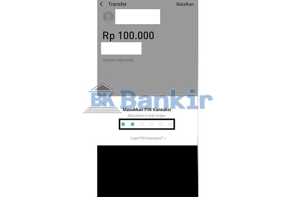 Input PIN Transaksi